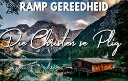 Ramp Gereedheid: Die Christen se Plig