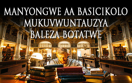 Manyongwe aa Basicikolo Mukuvwuntauzya Baleza Botatwe