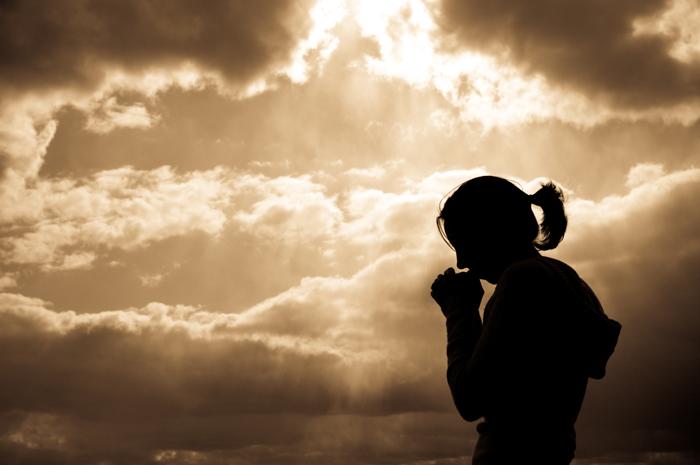 în rugăciune