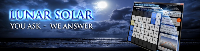 Luni-solar: You Ask, We Answer