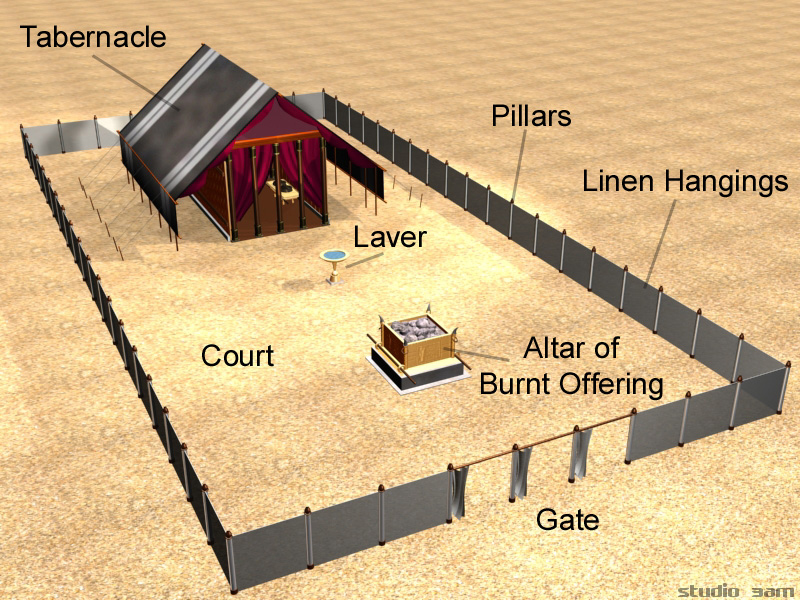 hebrew tabernacle / sanctuary in the wilderness