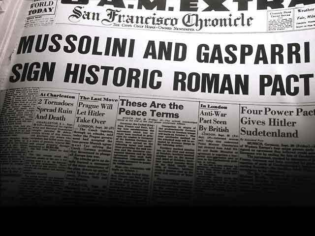 mussolini and gasparri newspaper