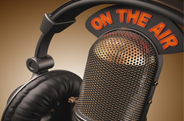 on the air (microphone and headphones)