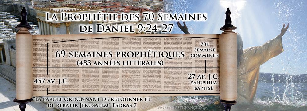 La prophétie des 70 semaines de Daniel 9:24-27