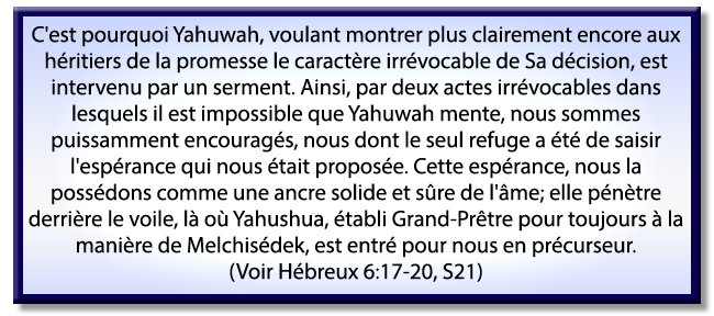 Hébreux 6:17-20