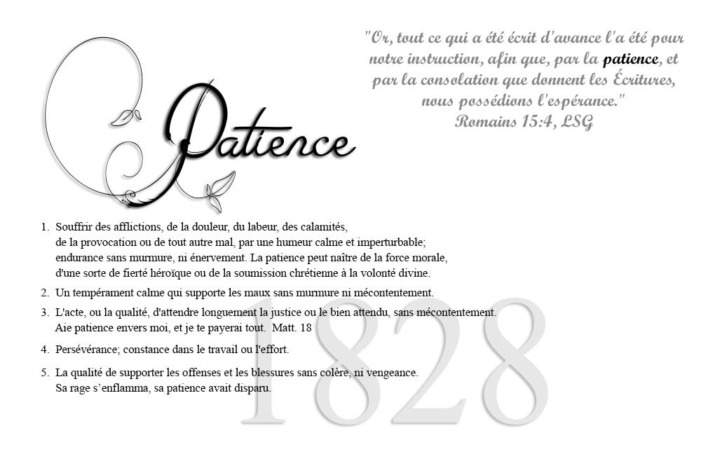 définition de la patience
