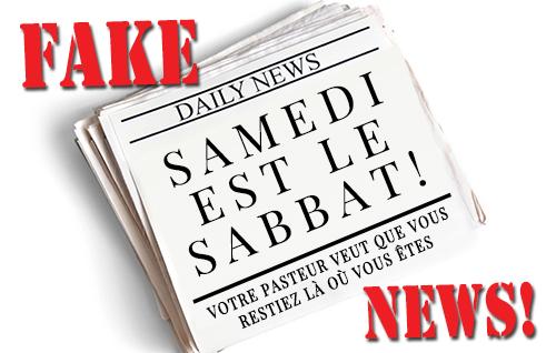 FAKE NEWS! Samedi est le Sabbat