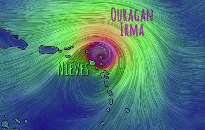 L'ouragan Irma et l'île de Niévès (Saint-Christophe-et-Niévès)