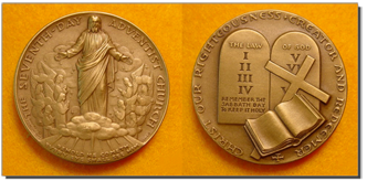 Medal given to Pope Paul VI by Seventh-Day Adventist Church official, B.B. Beach