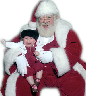 Santa Claus and crying child