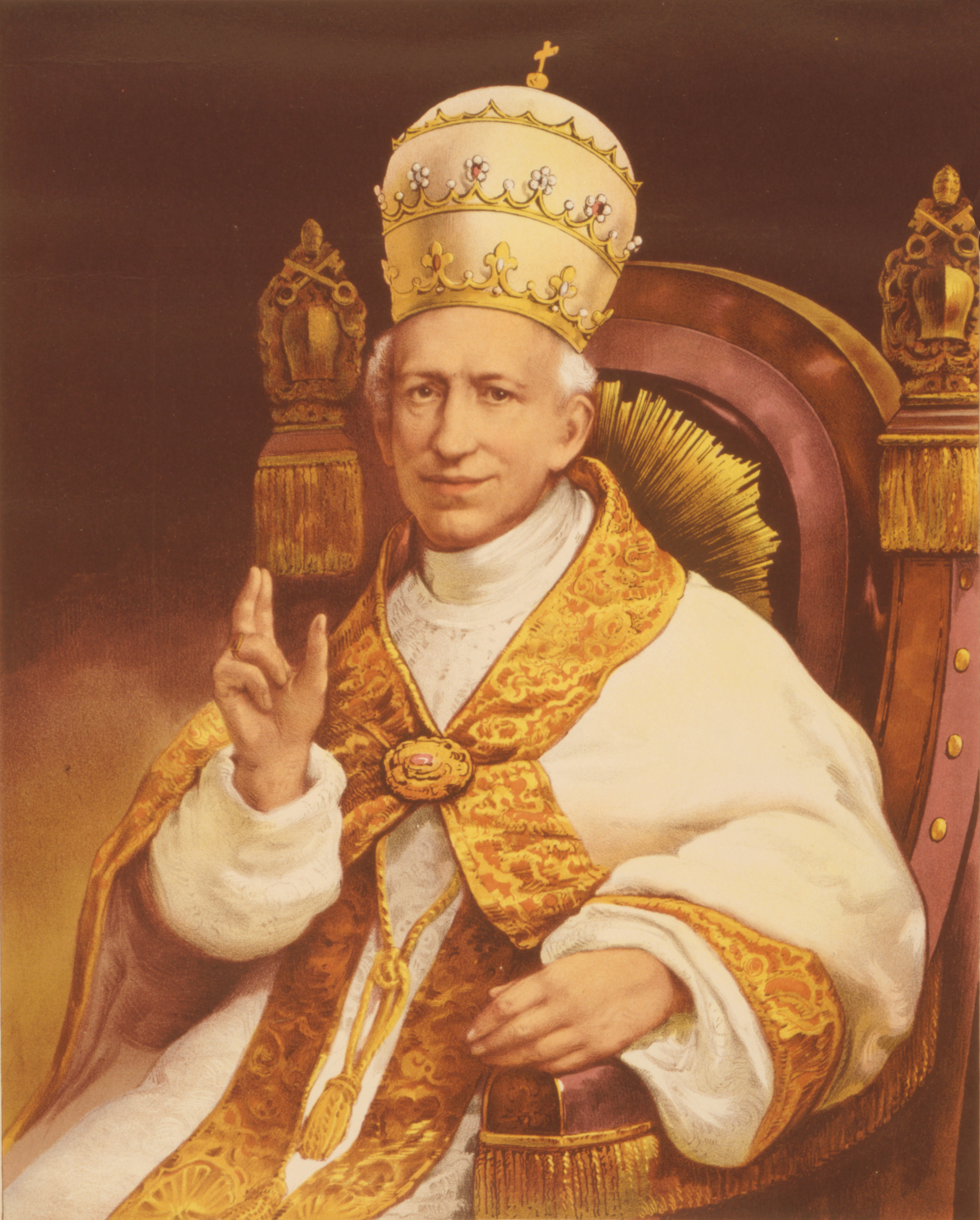Pope Leo XIII - Authentic portrait from the Vatican album of the Ecumenical Council. (Library of Congress) [Public domain], via Wikimedia Commons