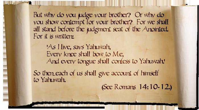 Romans 14:10-12