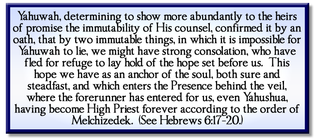 Hebrews 6:17-20