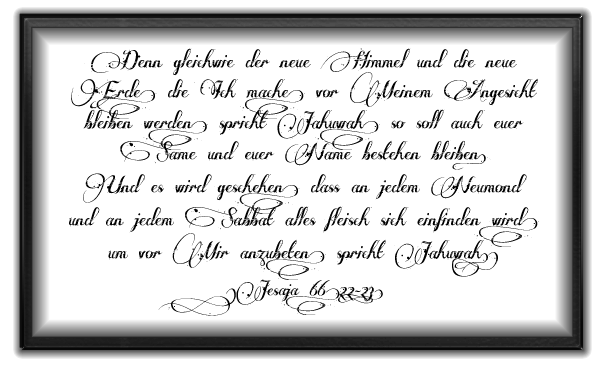 Isaiah 66:22-23 (Deutch)