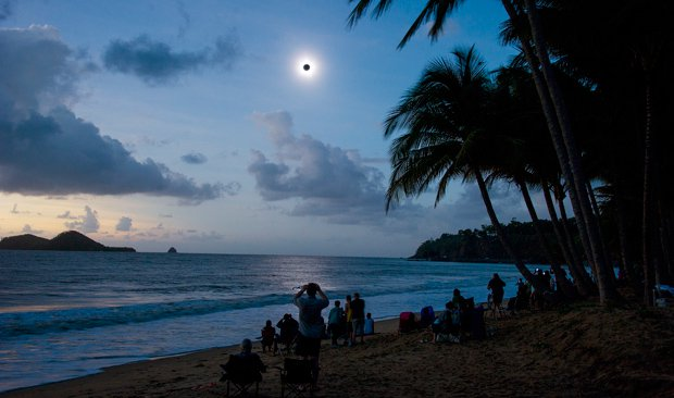 A total solar eclipse. Seen Nov. 14, 2012