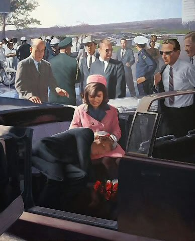 "Kennedys lönnmord ""Pietà"" hänger i vatikanska St. Pauluskatedralen."