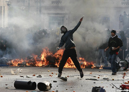 young people rioting in the streets