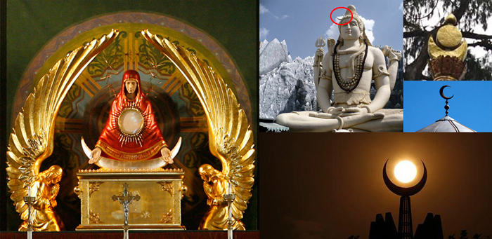 Crescent Moon ídolos de varias religiones