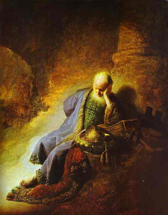 Jeremías se lamenta (Rembrandt)