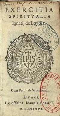"""Ignatius Loyola's """"Spiritual Exercises"""""""