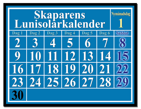 lunisolkalender – beräkna månsabbaten