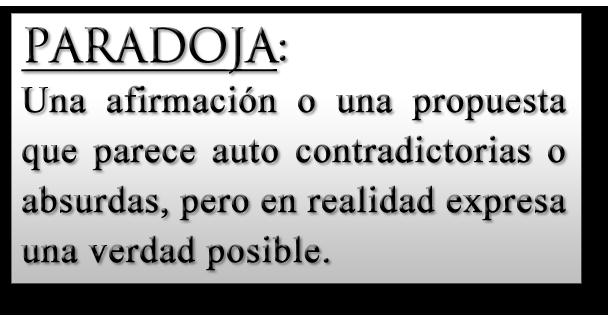 """Definición de """"paradoja"""""""