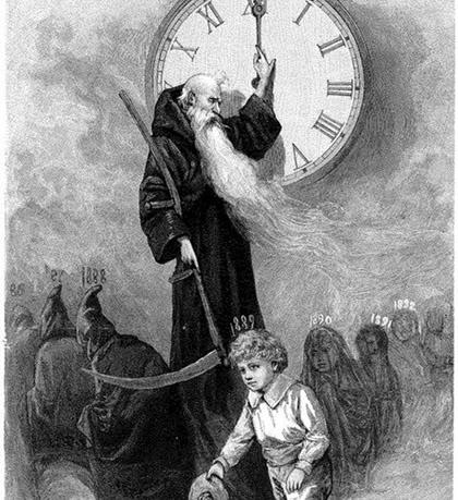 Padre Tiempo (Saturno) y el Año Nuevo del bebé