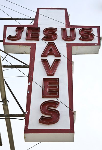 'Jesus Saves' sign