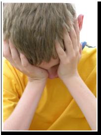 pojken gråter