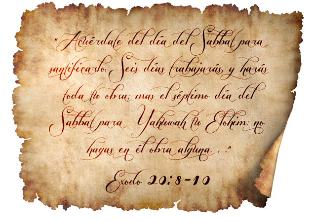 Éxodo 20:8-10