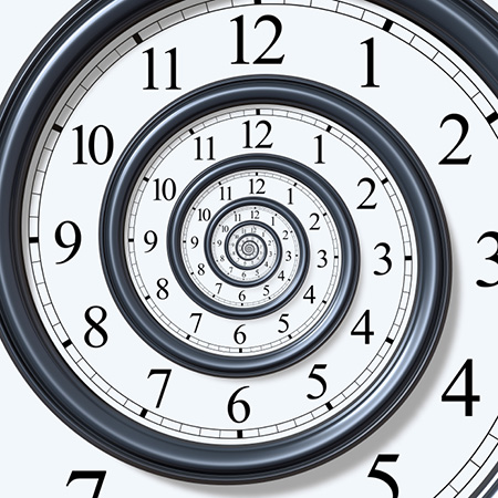 espiral del reloj