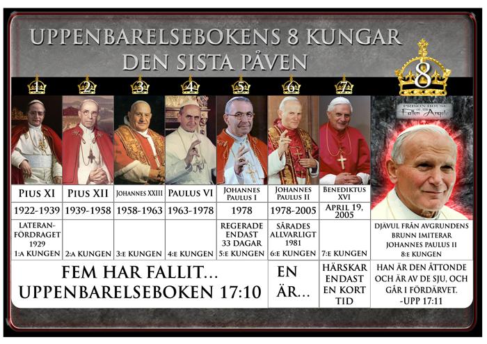 7 Kings Diagram: 8: e kungen identifieras som Johannes Paulus II