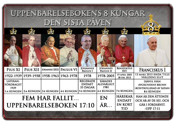 8 Kings (Påvar) av Revelation17