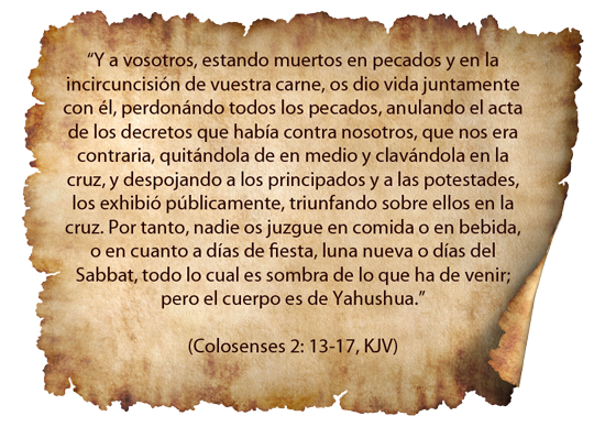Colosenses 2: 13-17