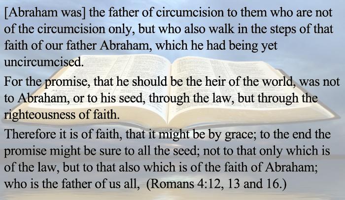 Romans 4:12, 13 & 16