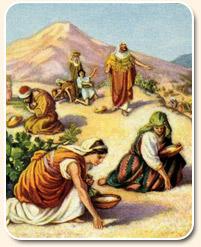 Příprava sobota - synové Izraelští manny shromažďování