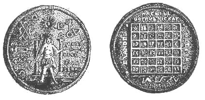 Amuletos en el Museo de Berlín. Dibujos de fotografías, 1910.