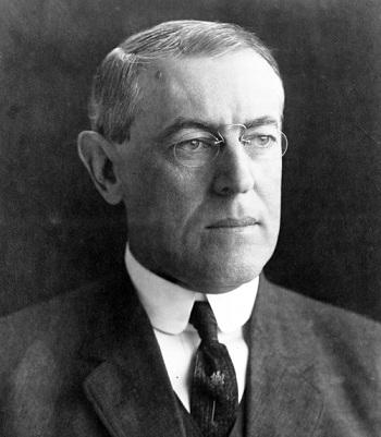 El Presidente Estadounidense Woodrow Wilson