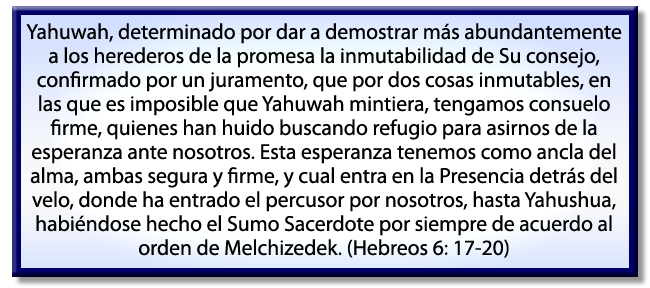 Hebreos 6: 17-20