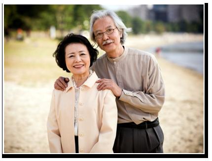 bahagia pasangan yang lebih tua