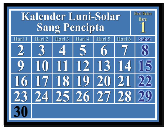 Kalender Luni-Solar Sang Pencipta