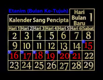 Raya Pondok Daun Kalender
