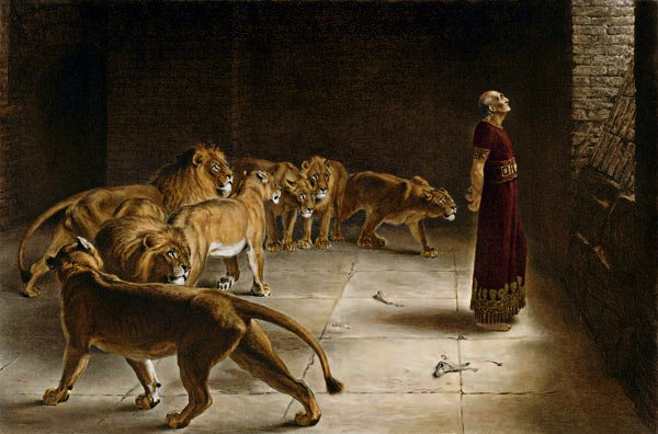 Daniel in the Lion's Den, Briton Rivière (1890)