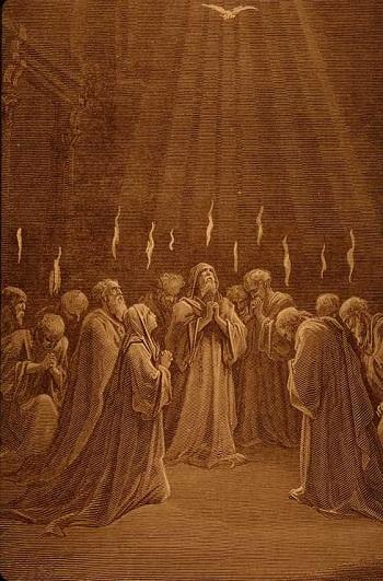 Pentecost (Dore's Woodcut)