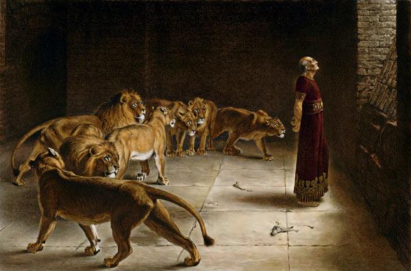 Daniel v jámě lvové, Briton Rivière (1890)
