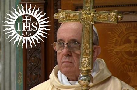 Pous Francis en Jesuit Logo