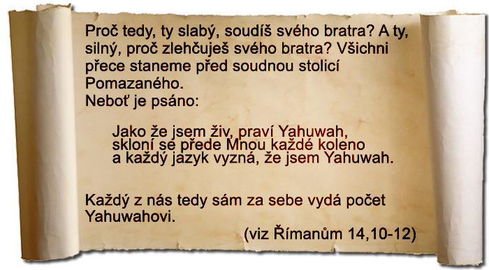 Římanům 14,10-12