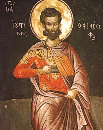 Justin Martyr oleh Theophanes orang Kreta