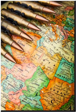 Peluru & Timur Tengah Peta