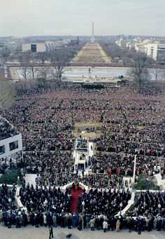 Reagan faces the obelisk January 20, 1981
